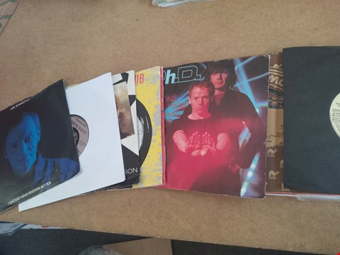 Lot 2544 APPROXIMATELY 15 ASSORTED VINYL RECORDS INCLUDING KENNY RODGERS , DONNA SUMMER , ROXY MUSIC AND TOM ROBINSON BAND