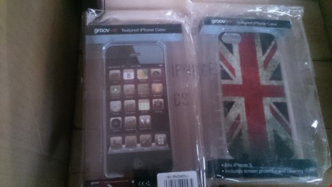 Lot 176 BOX OF APPROXIMATELY 121 ASSORTED IPHONE 5 PHONE CASES