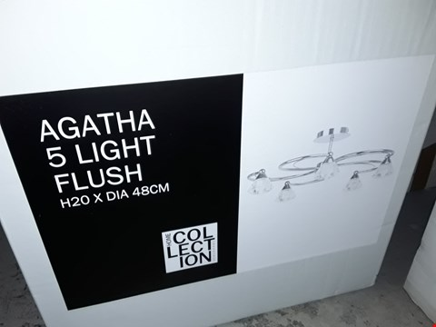 Lot 365 BOXED HOME COLLECTION AGATHA 5-LAMP FLUSH LIGHT