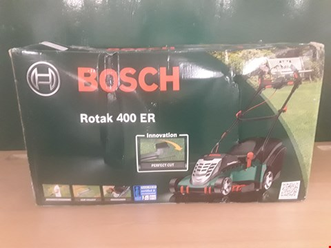 Lot 96 BOXED BOSCH ROTAK 400 ER LAWNMOWER RRP £160