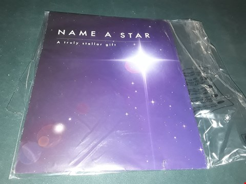 Lot 7025 NAME A STAR GIFT  RRP £20