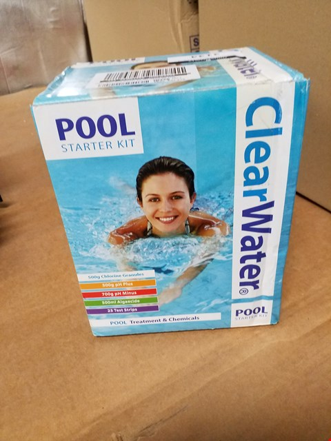 Lot 3134 BRAND NEW CLEAR WATER POOL STARTER KIT RRP £37.00