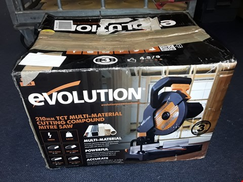 Lot 8096 BOXED EVOLUTION 210MM TCT MULTI-MATERIAL CUTTING COMPOUND LITRE SAW