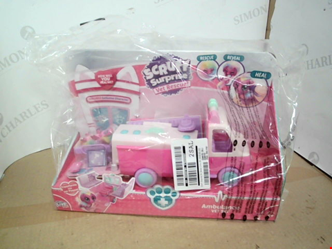 Lot 10500 SCRUFF SURPRISE PET RESCUE COLLECTABLE AMBULANCE PLAY SET RRP £24.99