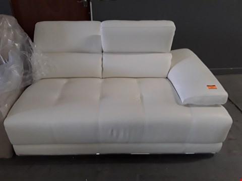 Lot 176 QUALITY ITALIAN DESIGNER WHITE LEATHER SOFA SECTION
