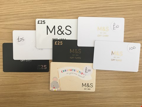 Lot 28 7 MARKS & SPENCER VOUCHERS.  TOTAL VALUE £220
