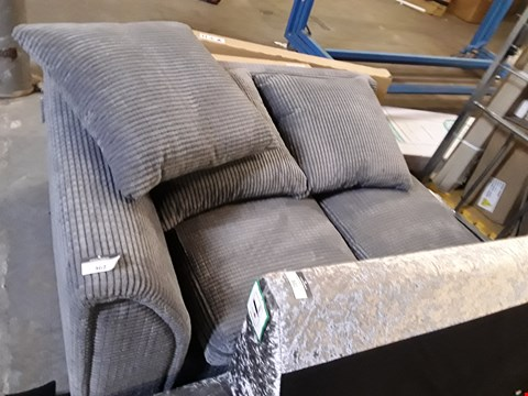 Lot 362 DESIGNER GREY JUMBO CORD SOFA SECTION