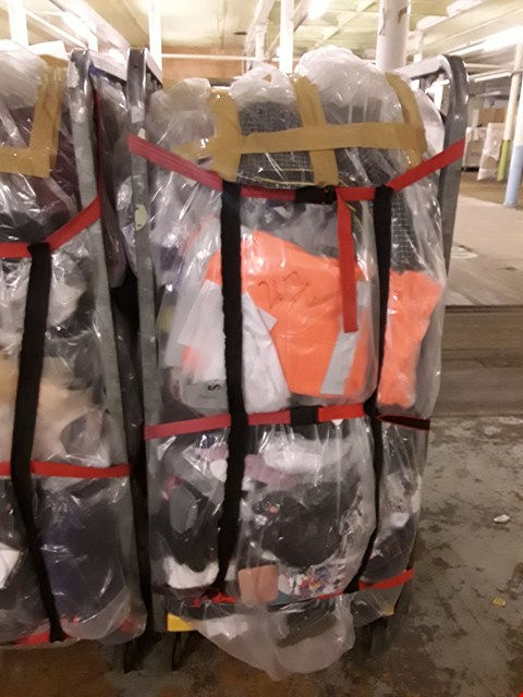 Lot 247 CAGE OF UNPROCESSED ADULT DESIGNER CLOTHING (CAGE NOT INCLUDED)