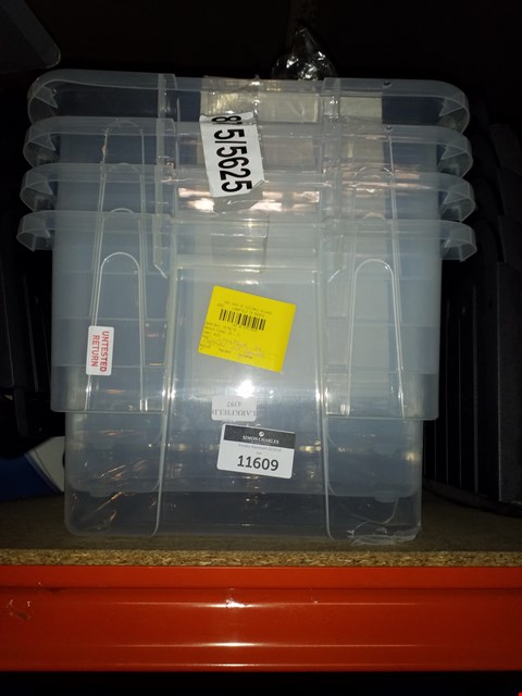 Lot 11609 4 STORAGE TUBS WITH CLOSE TOPS