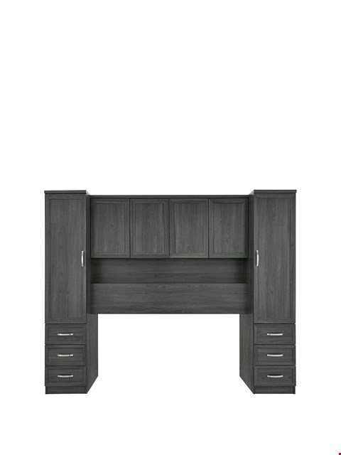 Lot 12230 BRAND NEW BOXED CAMBERLEY DARK OAK-EFFECT OVERBED UNIT (3 BOXES) RRP £349.00
