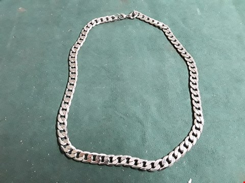Lot 1519 STERLING SILVER 1OZ SOLID DIAMOND CUT CURB CHAIN RRP £60