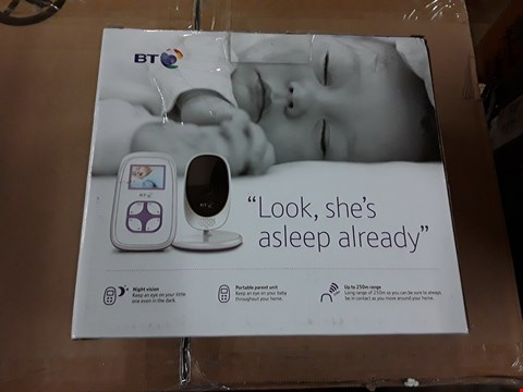 Lot 142 BT VIDEO BABY MONITOR 2000 RRP £75