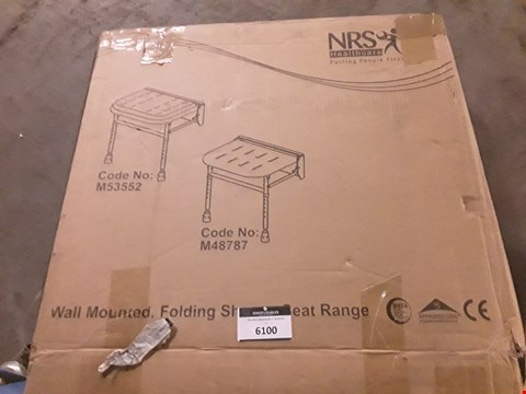 Lot 6100 BOXED NTS WALL MOUNTED SHOWER SEAT
