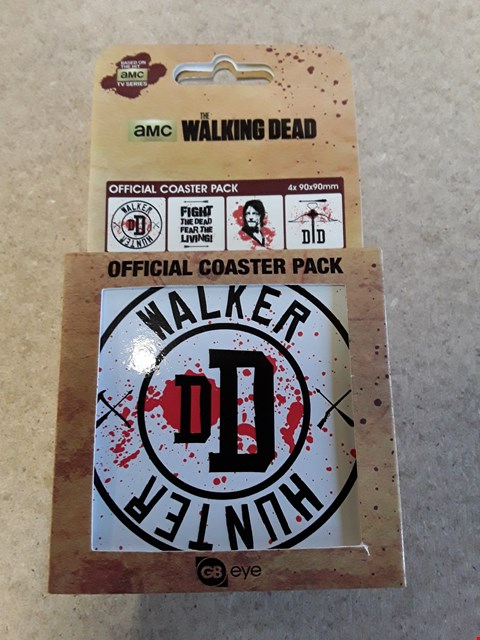 Lot 582 LOT OF 4 BRAND NEW THE WALKING DEAD COASTER PACKS
