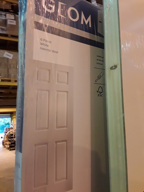Lot 1098 GEOM 6 PANEL WHITE INTERNAL DOOR 1981 × 762
