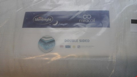 Lot 1266 QUALITY BAGGED SILENTNIGHT MIRACOIL DOUBLE SIDED 4'6'' MATTRESS AND DIVAN BASE
