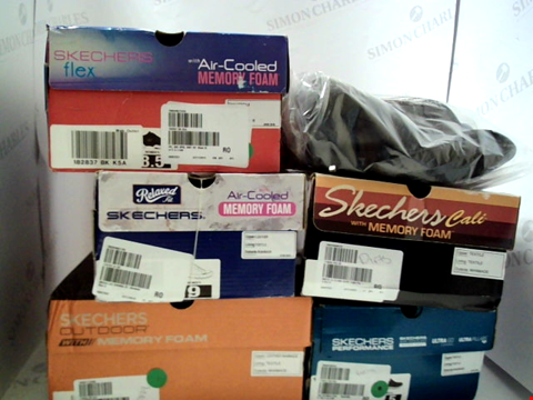 Lot 3093 LOT OF APPROXIMATELY 6 ASSORTED PAIRS OF FOOTWEAR TO INCLUDE; SKECHERS IN VARIOUS STYES AND SIZES