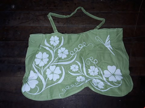 Lot 247 LOT OF 2 BEACH BAGS (GREEN WITH WHITE FLOWERS)