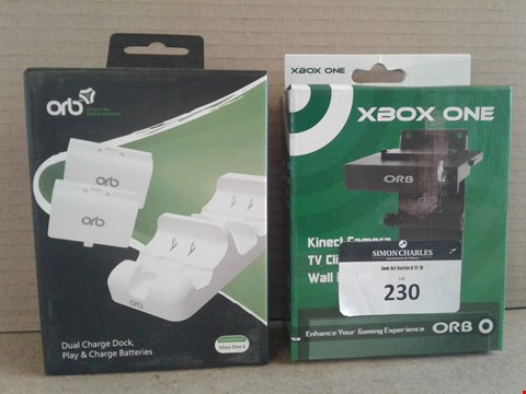 Lot 230 TWO BRAND NEW BOXED ORB ITEMS TO INCLUDE: DUAL CHARGE DOCK