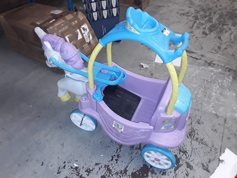 Lot 201 LITTLE TIKES MAGICAL UNICORN CARRIAGE RRP £149.99
