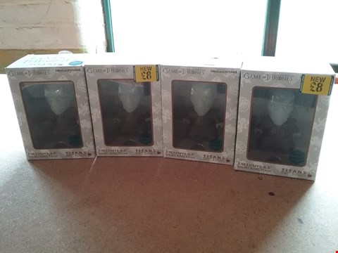 Lot 9012 4 BRAND BOXED GAME OF THRONES TITAN VINYL FIGURES