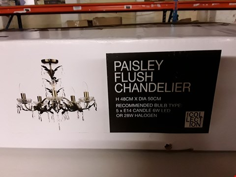 Lot 398 BOXED HOME COLLECTION PAISLEY FLUSH CHANDELIER