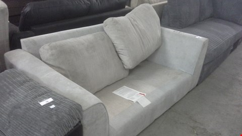 Lot 52 GREY FABRIC 2 SEATER PART SOFA