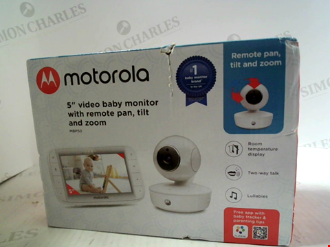 "Lot 6029 MOTORLOA 5"" VIDEO BABY MONITOR WITH REMOTE PAN, TILT AND ZOOM"