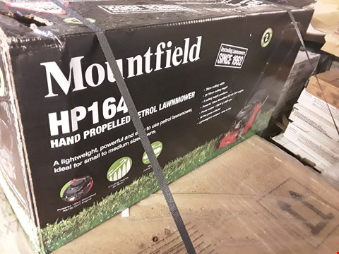 Lot 43 BOXED MOUNTFIELD HP164 HAND PROPELLED PETROL LAWNMOWER