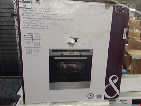 Lot 435 COOKE & LEWIS CLMFSTa INTEGRATED ELECTRIC OVEN