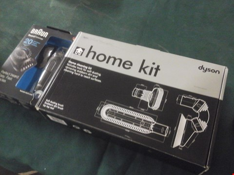 Lot 1067 BOXED BRAUN BEARD TRIMMER AND BOXED DYSON HOME CLEANING KIT