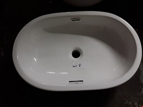 Lot 26 WHITE OVAL SIT ON BASIN RRP £101