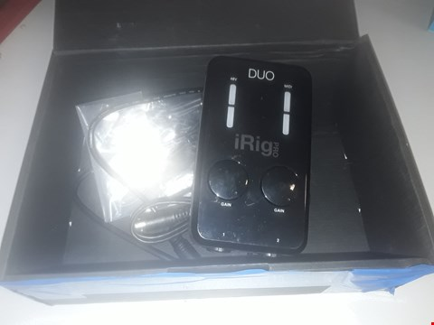 Lot 132 IRIG PRO DUO MOBILE AUDIO/MIDI INTERFACE