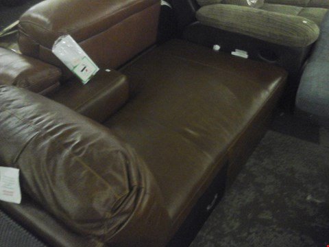 Lot 90 DESIGNER BROWN LEATHER SOFA SECTION