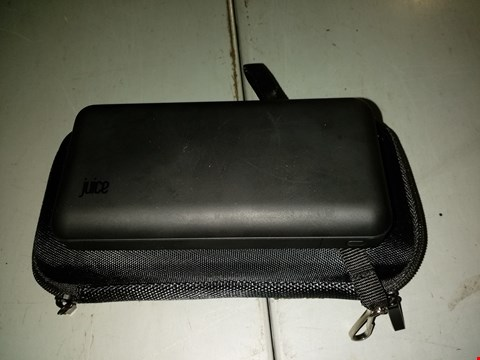 Lot 1138 JUICE 15000MAH PORTABLE BATTERY BANK IN BLACK WITH CARRY CASE