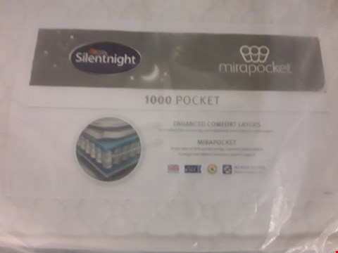 Lot 318 DESIGNER BAGGED 135CM SILENTNIGHT MIRAPOCKET 1000 POCKET MATTRESS