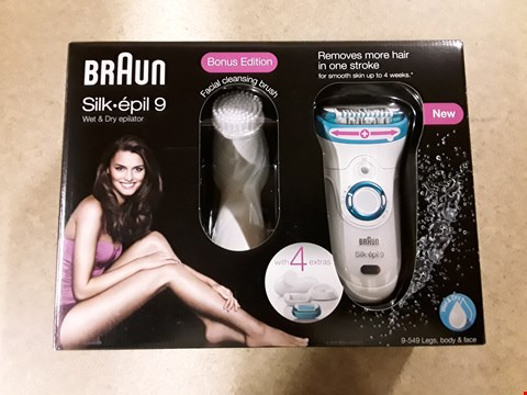 Lot 1415 BRAND NEW BRAUN SILK EPIL 9 WET & DRY EPILATOR  RRP £240