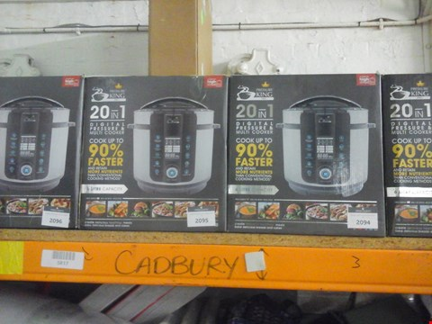 Lot 47 BOXED PRESSURE KING PRO 20-IN-1 ELECTRIC PRESSURE COOKER, 6 LITRE, 1000 W RRP £99.99