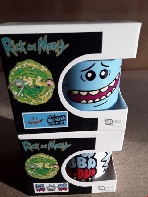 Lot 20 2 BRAND NEW BOXED RICK AND MORTY MUGS