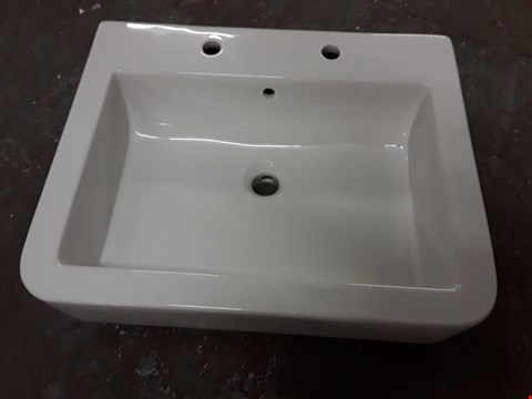 Lot 532 BOXED WATERMARK 600 2-TAP BASIN - 605 X 480MM RRP £149