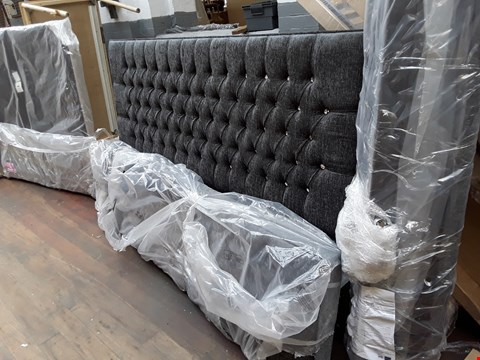 Lot 2461 DESIGNER ALENA 6' MAURICE CHARCOAL BED FRAME (3 SECTIONS ONLY)