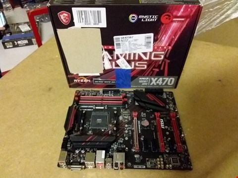 Lot 900 MSI X470 GAMING PLUS ATX MOTHERBOARD FOR AMD SOCKET AM4 PROCESSORS