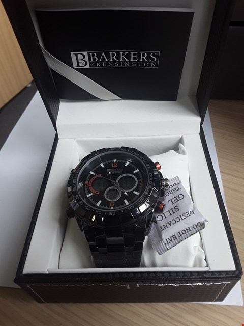 Lot 2080 BRAND NEW DESIGNER BARKERS OF KENSINGTON MEGA SPORT GENTLEMAN'S CHRONOGRAPH
