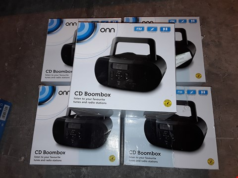 Lot 4586 LOT OF 5 ONN CD BOOMBOXES