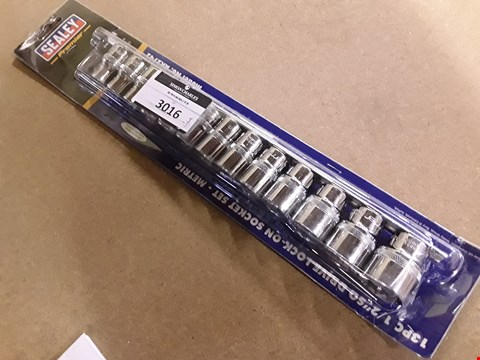 "Lot 3016 SET SEALEY PREMIER 13PC 1/2"" DRIVE METRIC SOCKET SET"