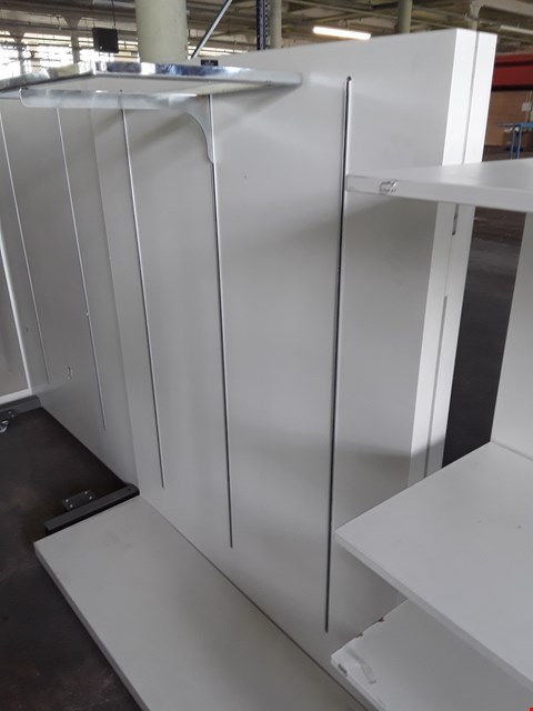 Lot 2083 WHITE ADJUSTABLE SHELVING UNIT ( NO SHELVES)
