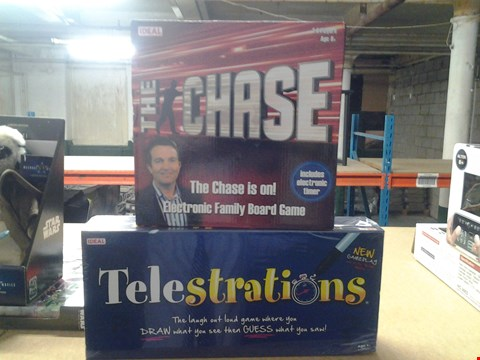 Lot 337 BOXED THE CHASE BOARD GAME AND BOXED TELESTRATIONS GAME