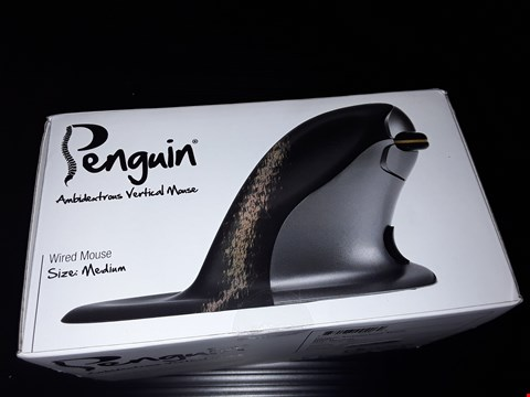 Lot 58 BOXED PENGUIN AMBIDEXTROUS VERTICAL WIRED MOUSE