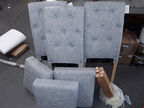 Lot 87 LOT OF 3 GREY FABRIC DINING CHAIRS
