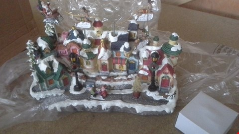 Lot 1098 LED VILLAGE WITH MOVING RAINDEERS RRP £65